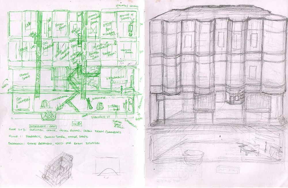 layout floor plan hh holmes hotel