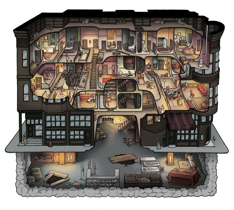Making The H H Holmes Murder Castle Carden Illustration