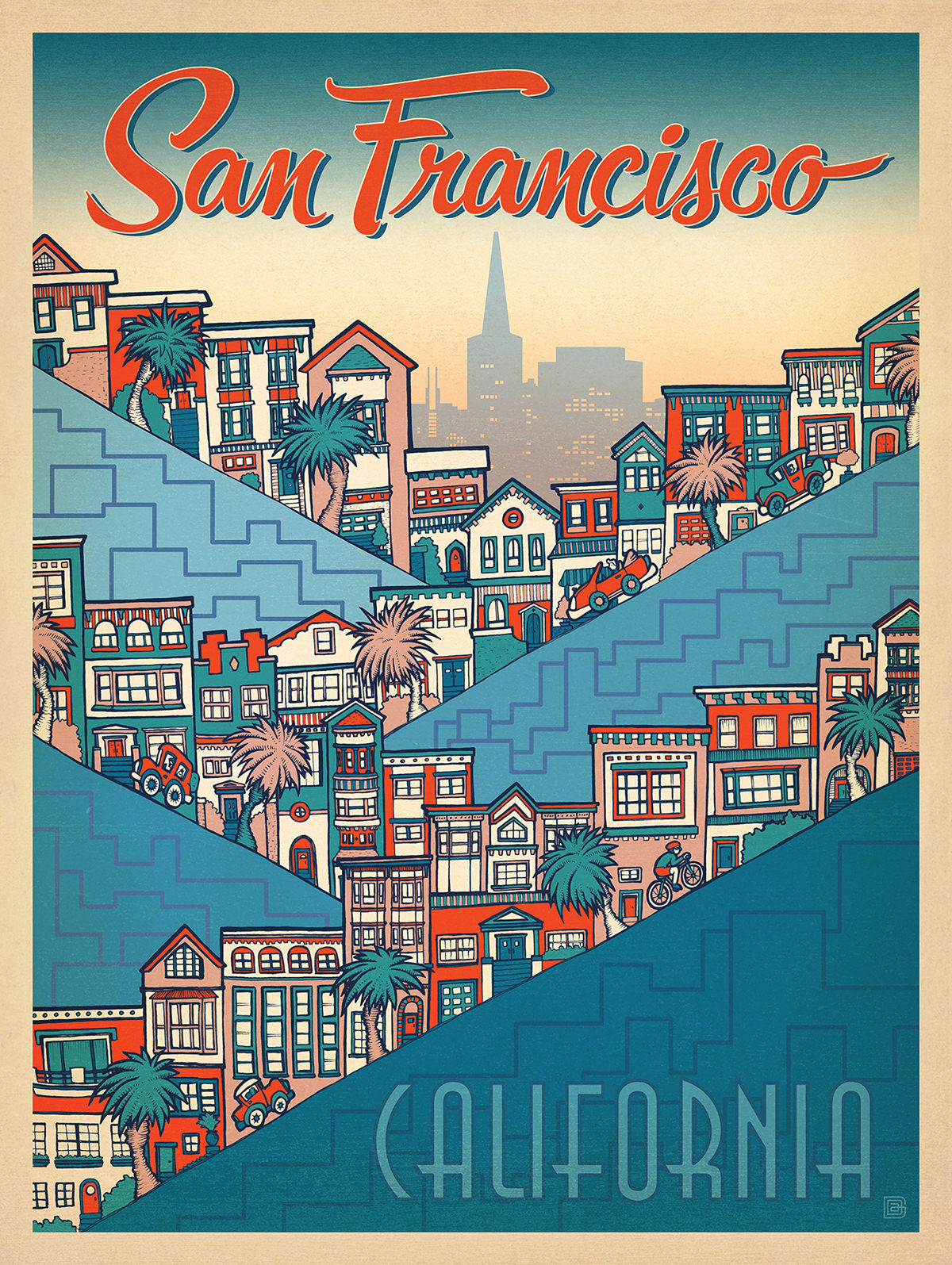 SAN FRANCISCO POSTER FOR ANDERSON DESIGN GROUP   (PURCHASE PRINTS HERE)