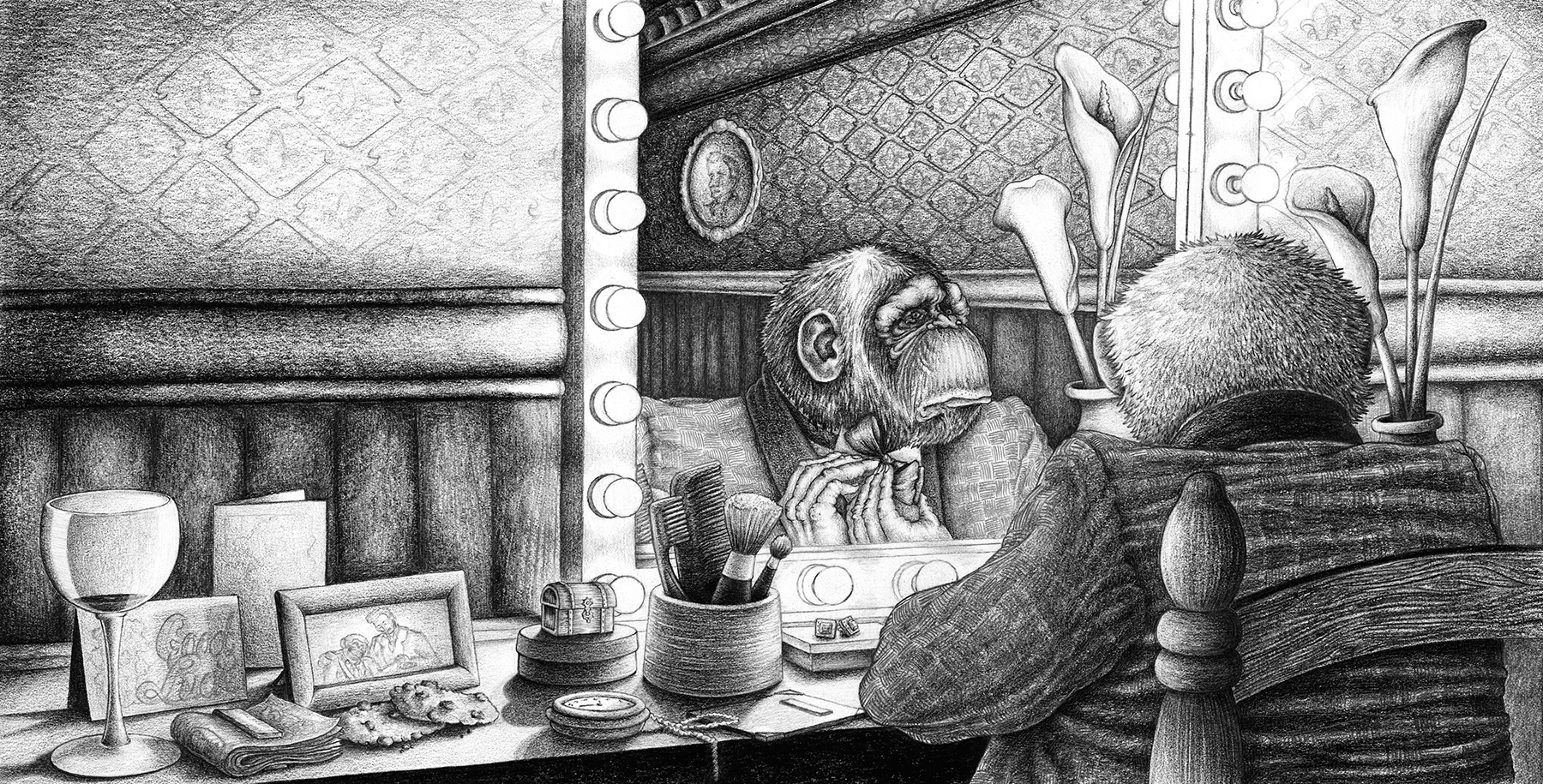 """Illustrating Kafka's """"A Report to an Academy"""", Graphite [ See the making of process here ] Original Drawings Available"""