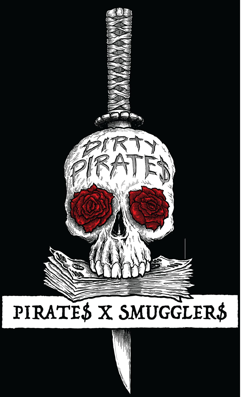 Pirates X Smugglers Logo, vector illustration