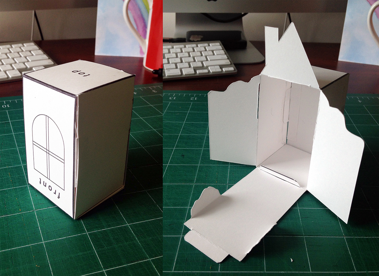 A teeny tiny mockup I made to test the design.