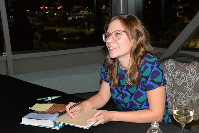 Amy Thielen signed copies of her two books for guests following her remarks.