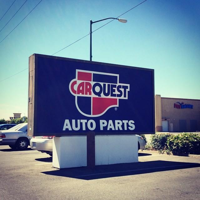 Vinyl and plastic reface for CarQuest Auto Parts.