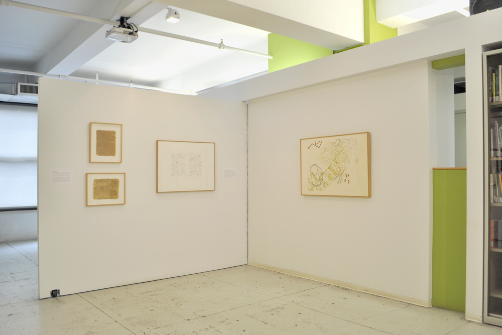 Installation view,  By leaves or play of sunlight – John Cage: Artist and Naturalist , The Horticultural Society of New York, April 2 to May 16, 2014.