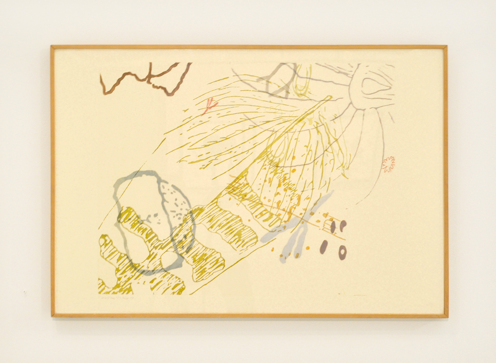 John Cage,  17 Drawings by Thoreau , 1978, Color photoetching, each print color unique, 24 ½ x 36 inches, Edition of 25, AP 10. © John Cage Trust at Bard College