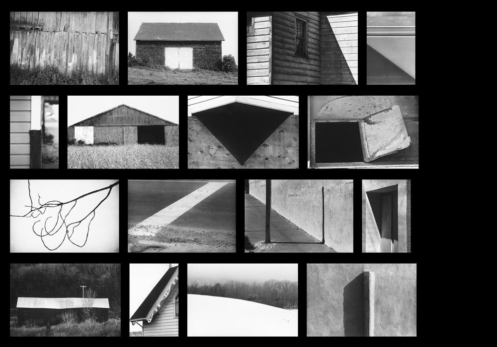 Screen capture showing thumbnails of Ellsworth Kelly's photographs on Matthew Marks Gallery's website,  www.matthewmarks.com .
