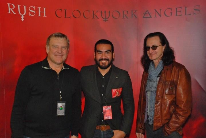with Alex Lifeson & Geddy Lee of RUSH