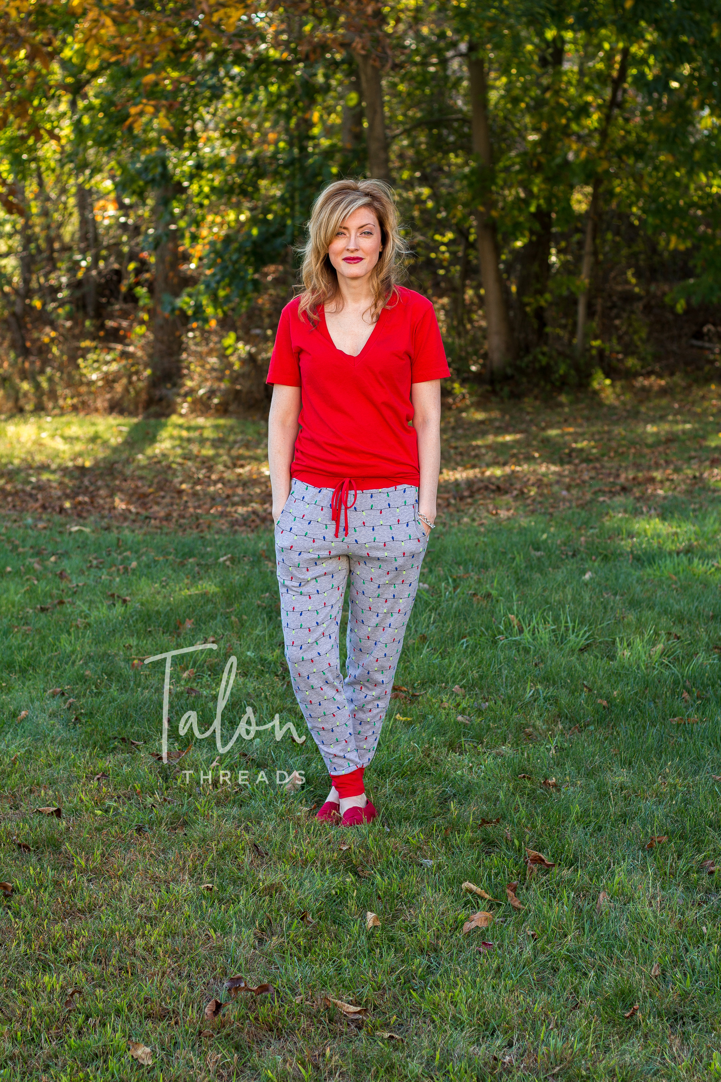 Pattern: Track Pants by Street Style Patterns  Fabric: Doodle line from JoAnns