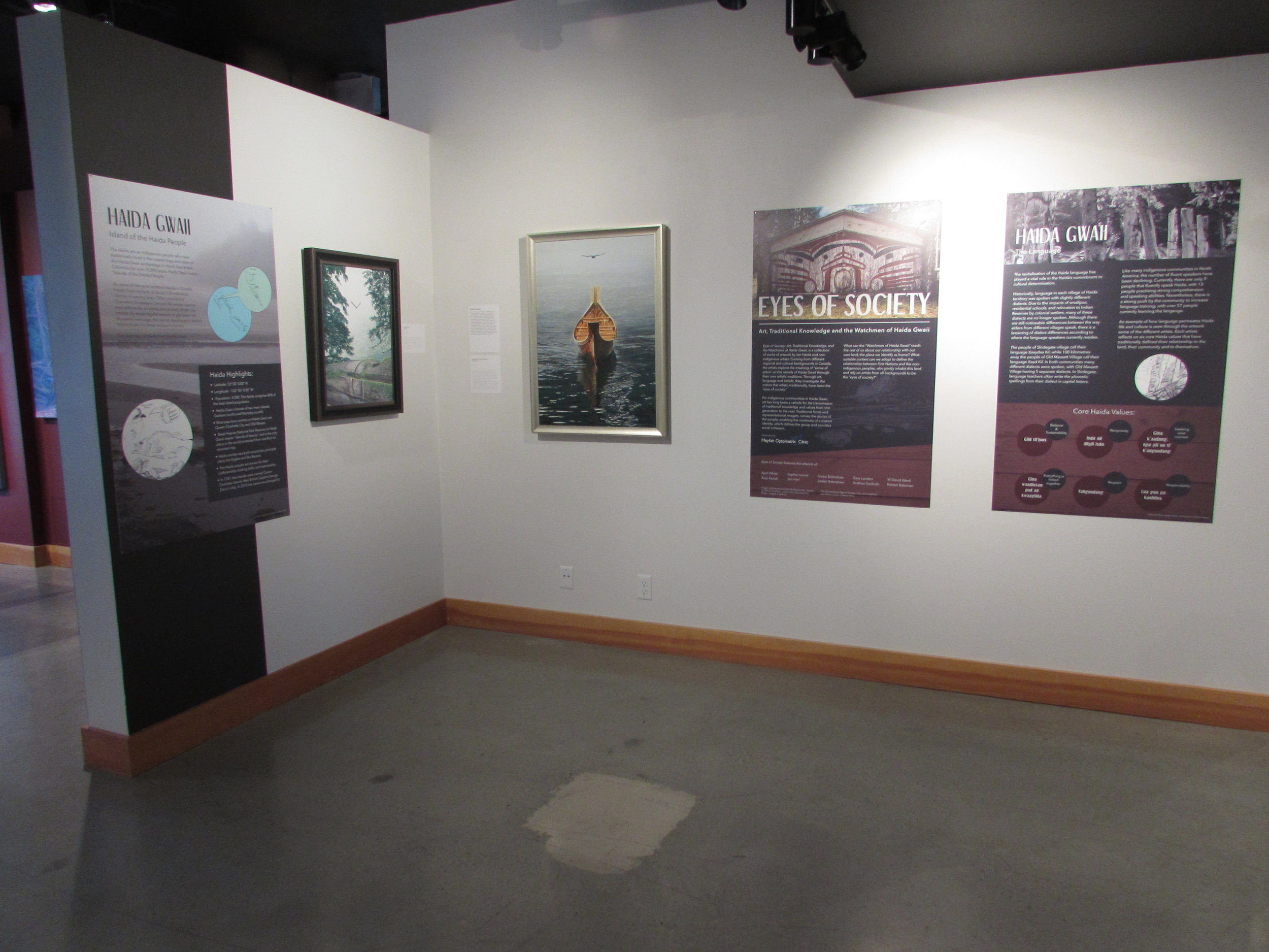 Introductory panels for  Eyes of Society  exhibition