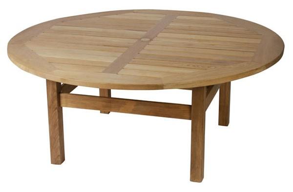 A gorgeous chunky teak garden table