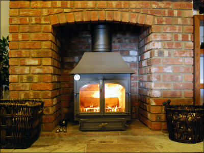 Clearview 650, with low canopy, Golden Fire Brown Colour option, as displayed in our showroom