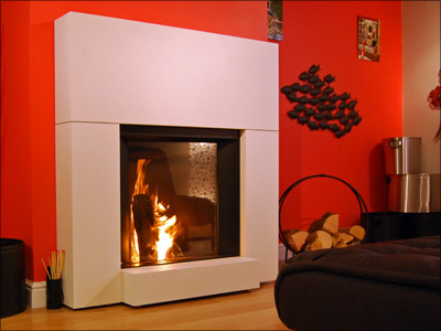Stûv MicroMega, built-in with White Facade, as displayed in our showroom