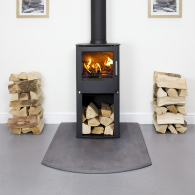 Westfire Series 1 with Pedestal on grey resin floor plate