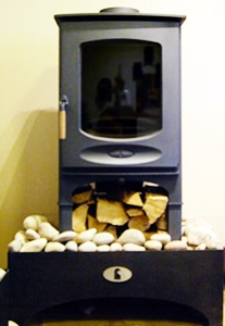 Charnwood C Eight, with Store Stand, Blue as displayed in our showroom (CURRENTLY FOR SALE AT DISCOUNTED PRICE OF £1240)