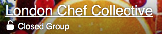 I created and am sole administrator for the freelance chef group on Facebook, we now have 2500 members.