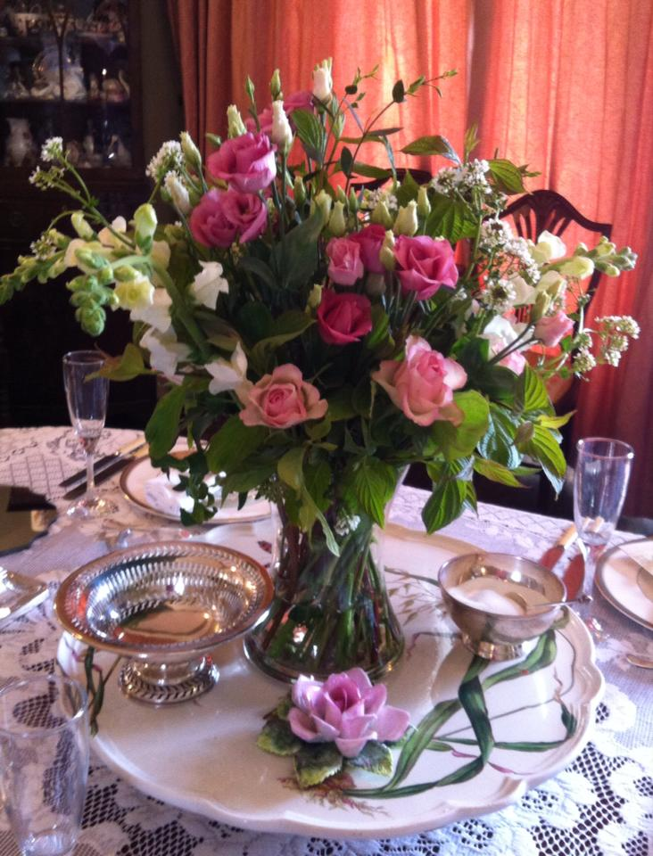 table arrangement at Bracken House