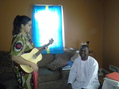 Alex Semambo (from Uganda, living in the USA) organizes a musical event for Nauru on Nauru's independence day (Jan 31).