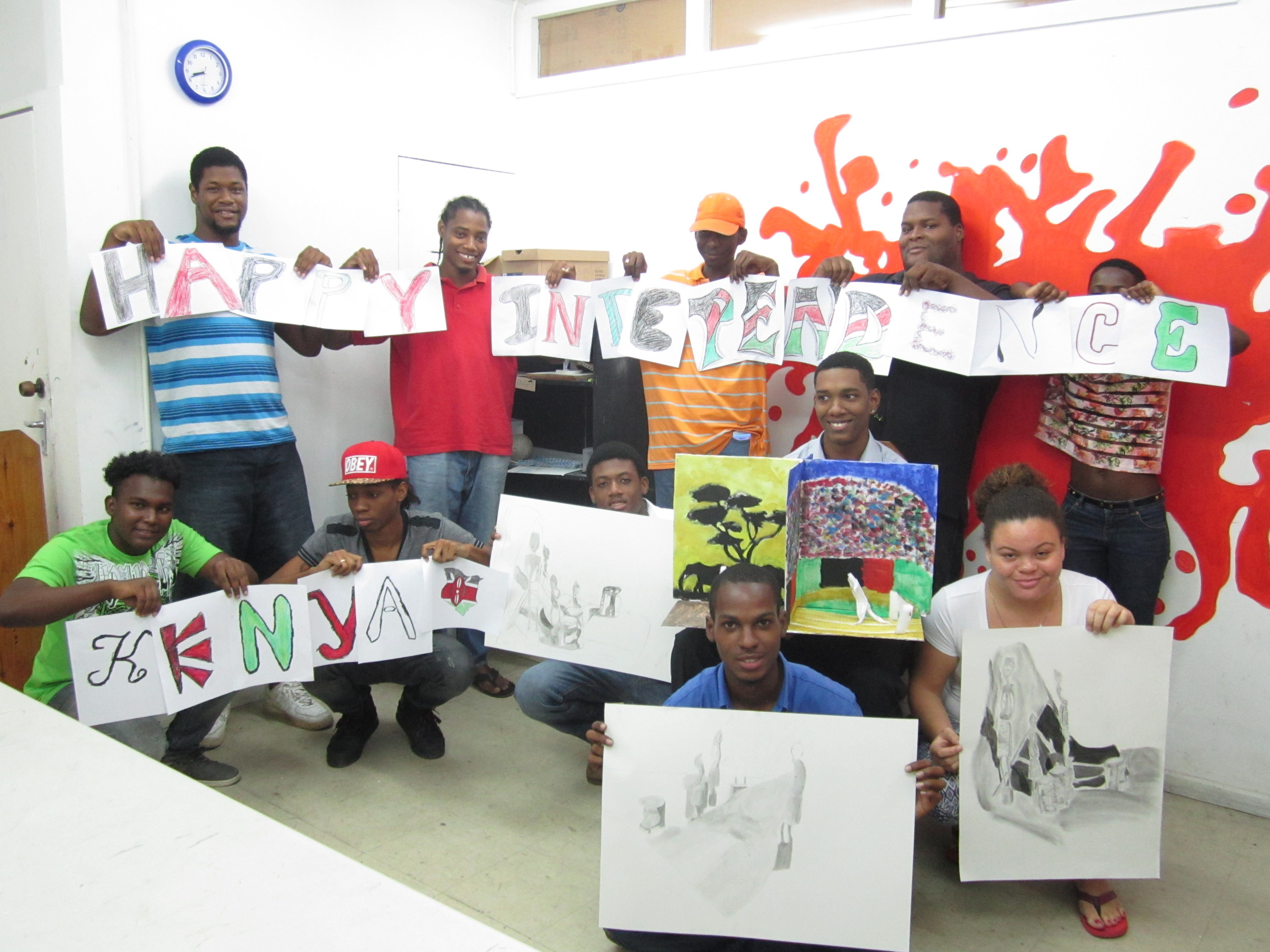 On Kenya's independence day (Dec 12), students at the School of Art & Design in St. Lucia create art that is inspired by the rich culture of Kenya.