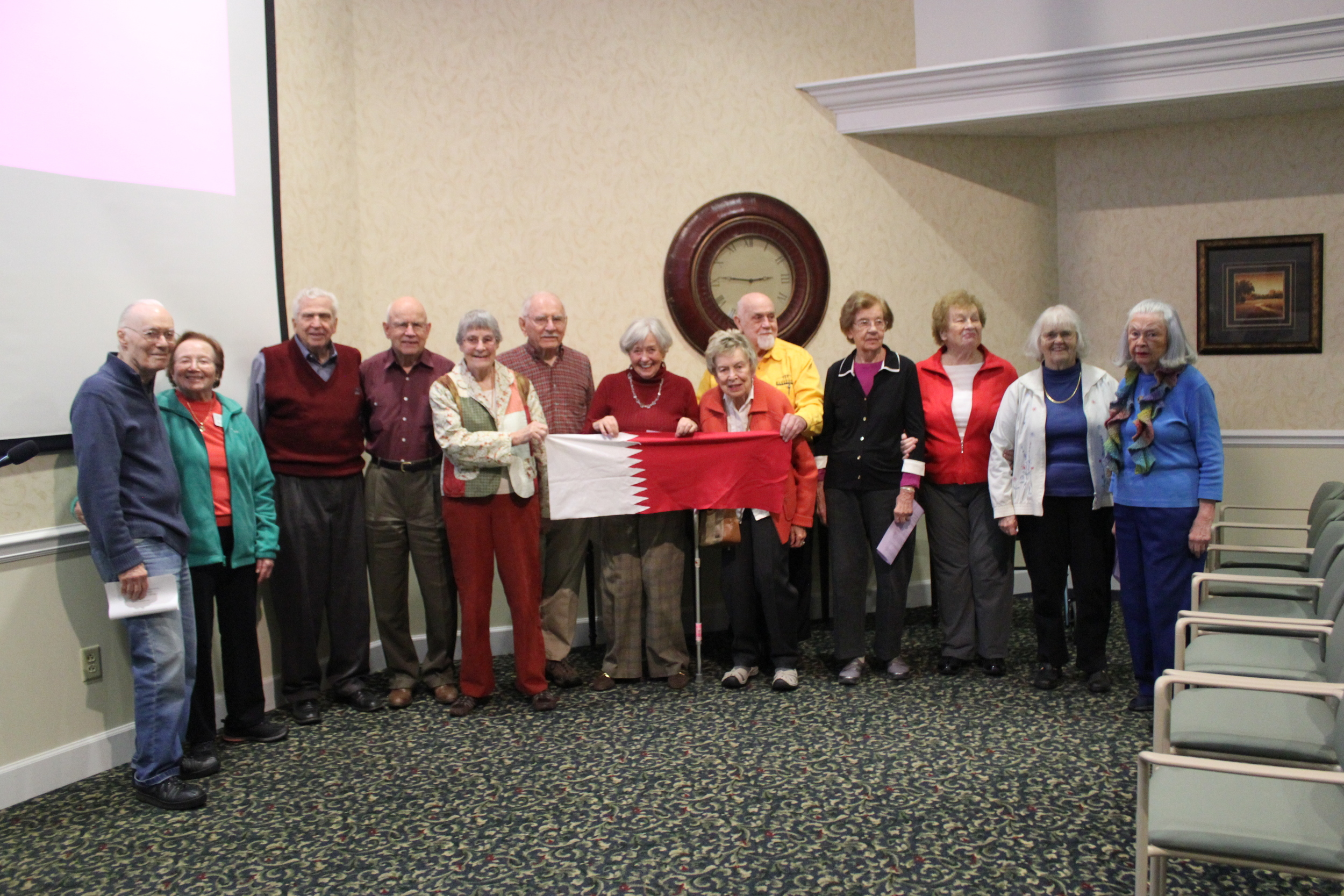 Residents at the Highlands retirement community in the United States learn about Qatar on Qatar's independence day (Dec 18).