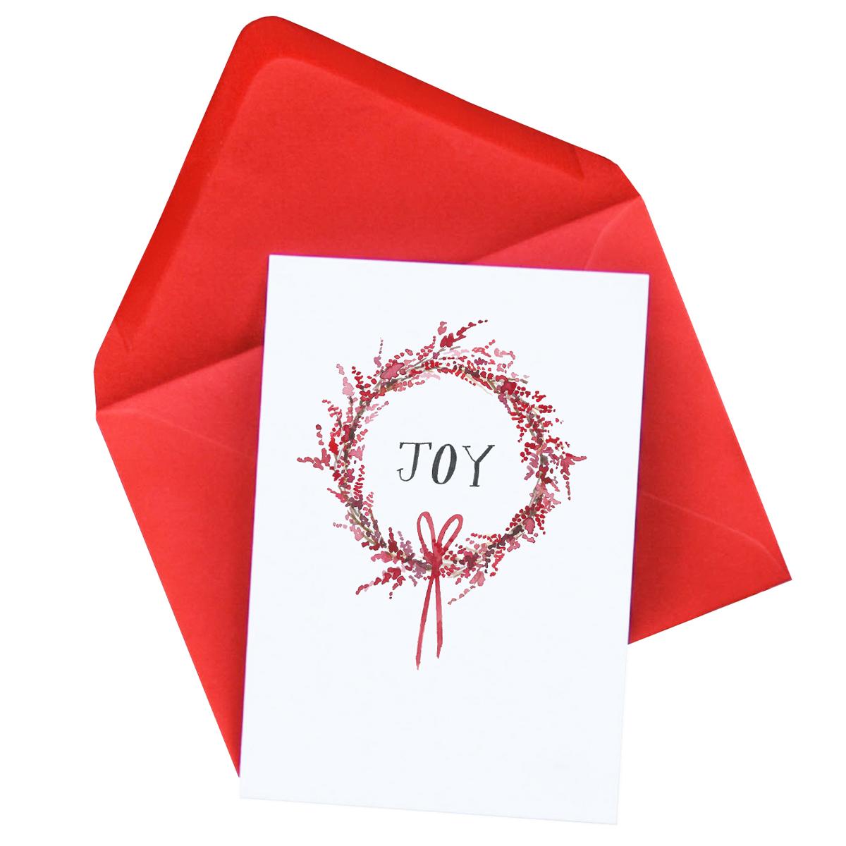 Joy Christmas Card  £2.50