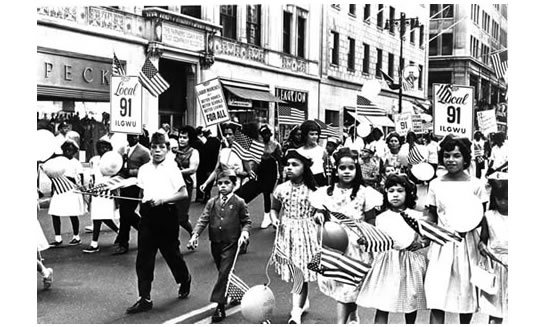 Children march in the 1963 New York City Labor Day parade. Since the very first celebration, Labor Day has been a time for families to relax and have fun.