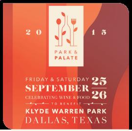 2015 Park & Palate | Sept 25-26 Klyde Warren Park