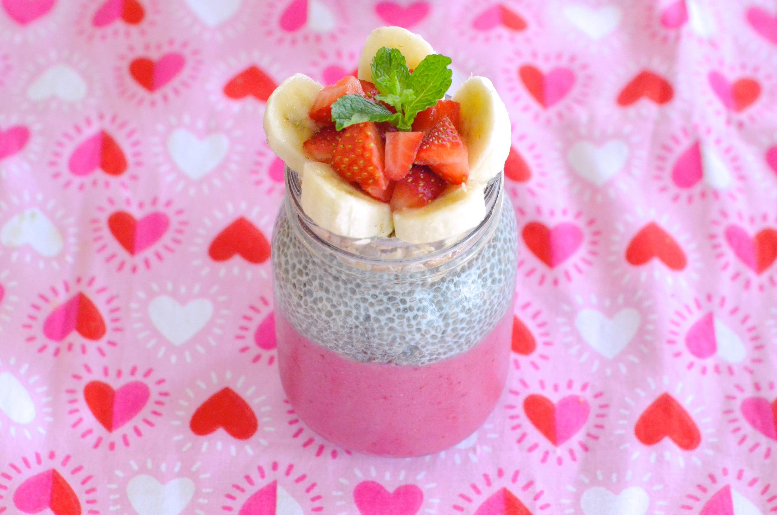 Strawberry Banana Smoothie/Chia Pudding Parfait