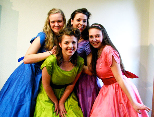 "Dinah Hassrick, Athena Michaelides, Sommer Harris and Jenny Zisette play the title roles in ""The Taffetas,"" May 2012"