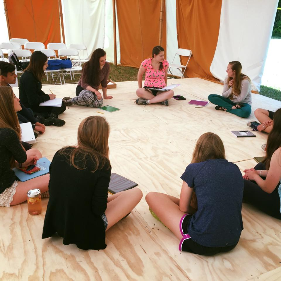 WCT Alum and ISF Marketing Director Olena Hodges teaches a CCYA scansion workshop.