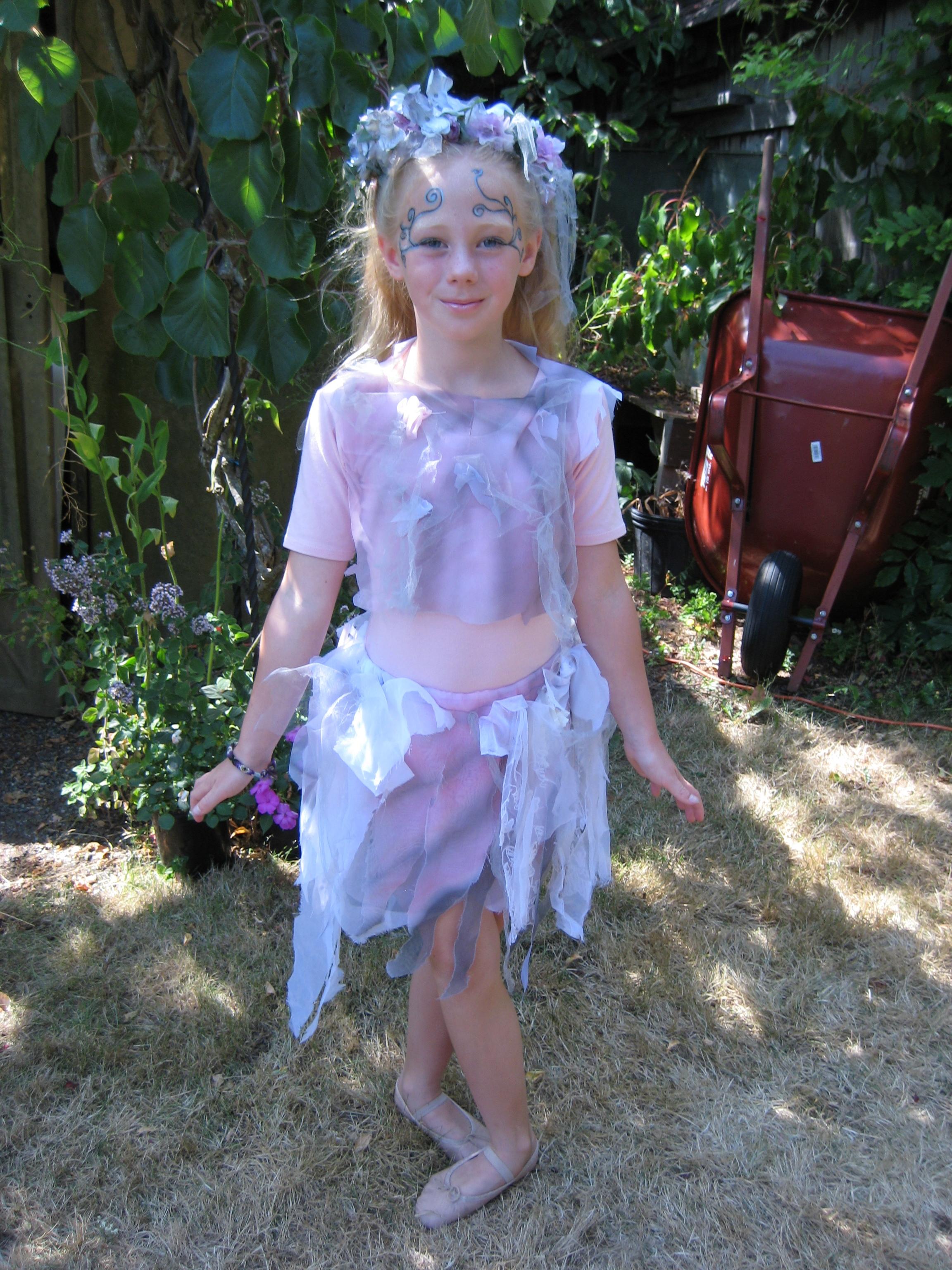 Miranda Cassée as a Fairy in Martha Murphy's backyard