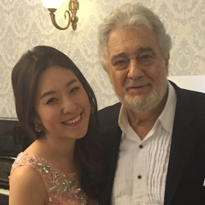 with Maestro Domingo after our concert in Korea in2014
