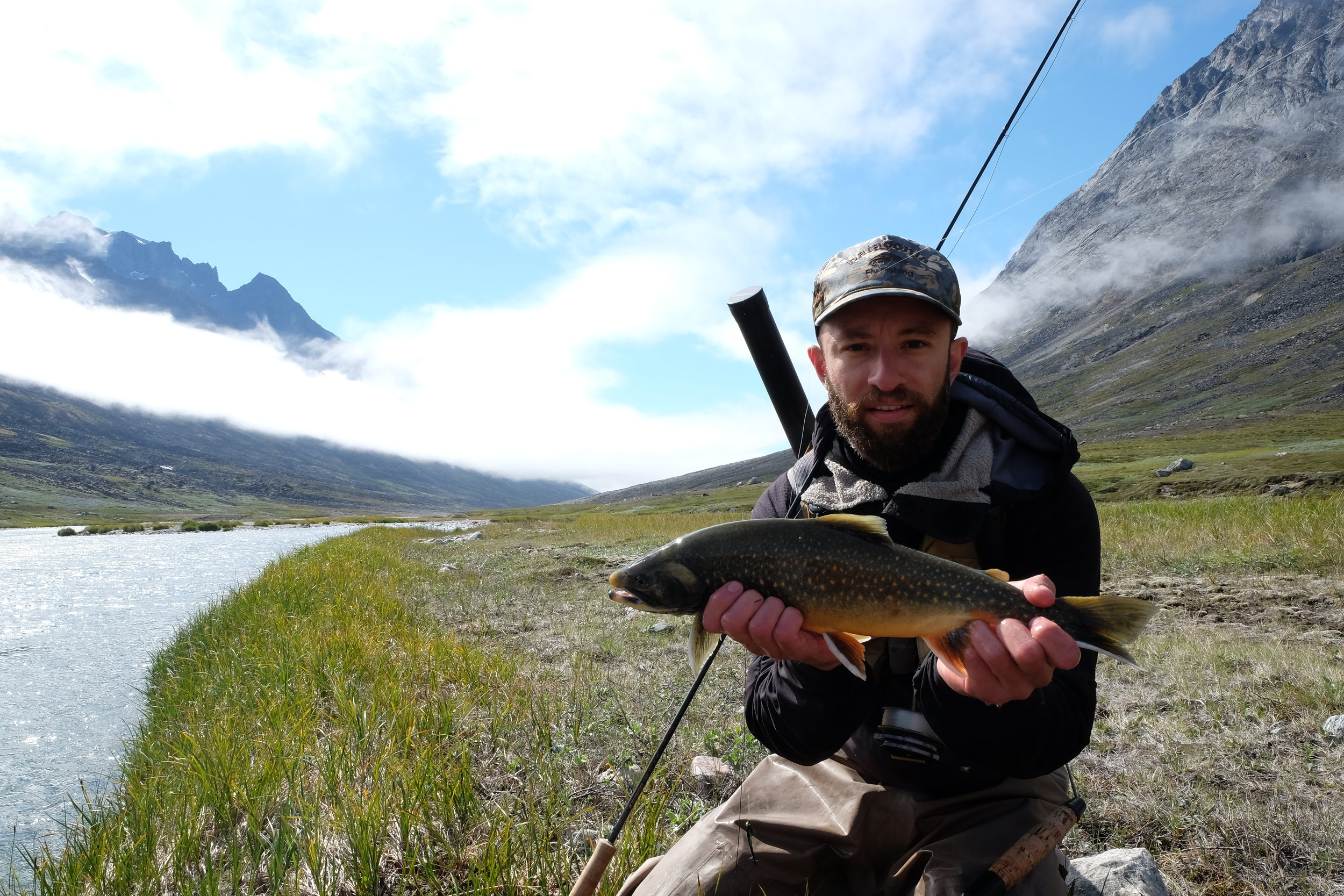Isaac Milosavich  Isaac´s main job in South Greenland is brewmaster at QajaQ Brewery but we have been so fortunate to have in on our team during the summer because his passion for fly fishing and great guiding.