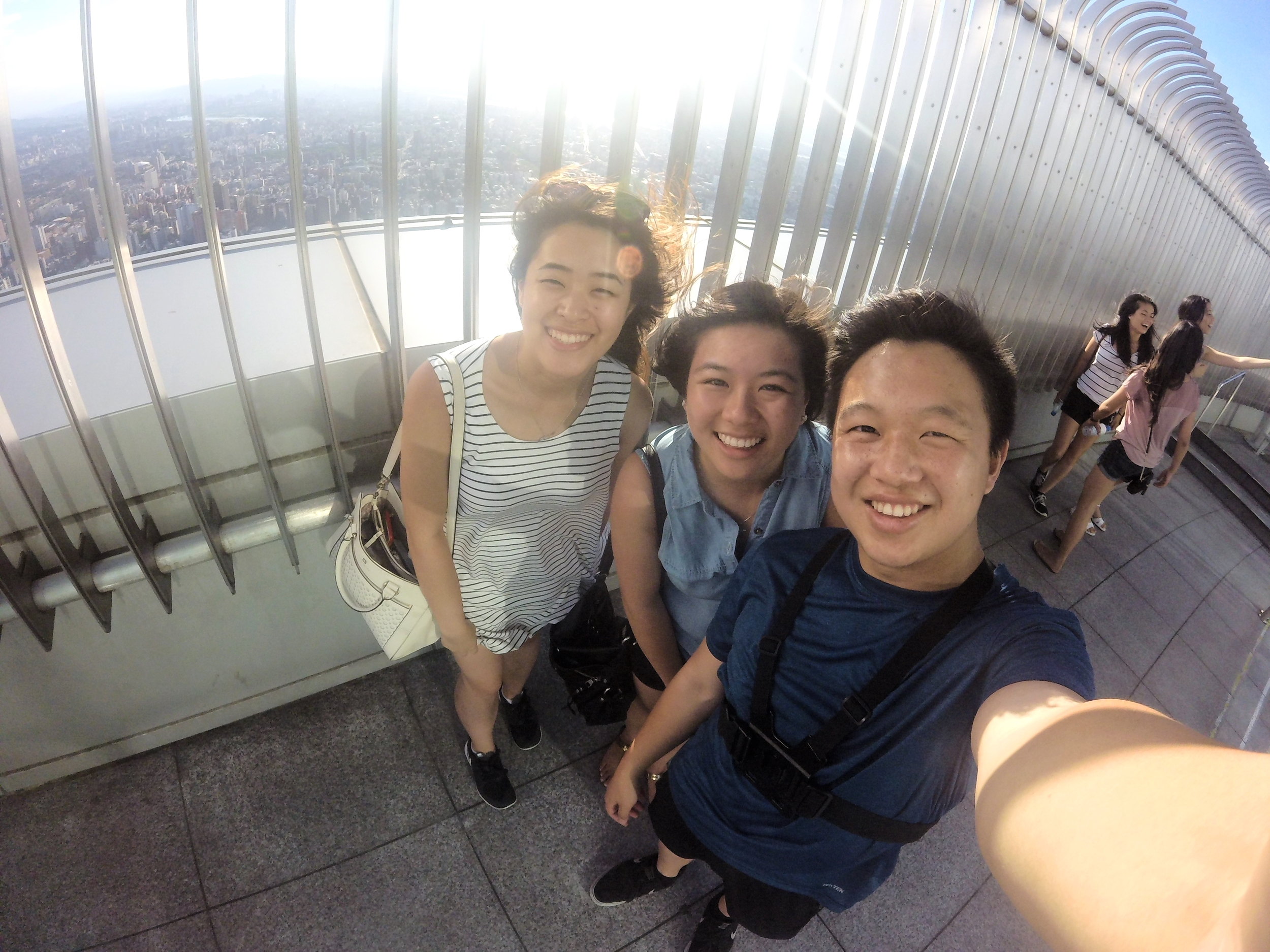 We had the opportunity to go on top of one of the world's tallest skyscrapers, Taipei 101!
