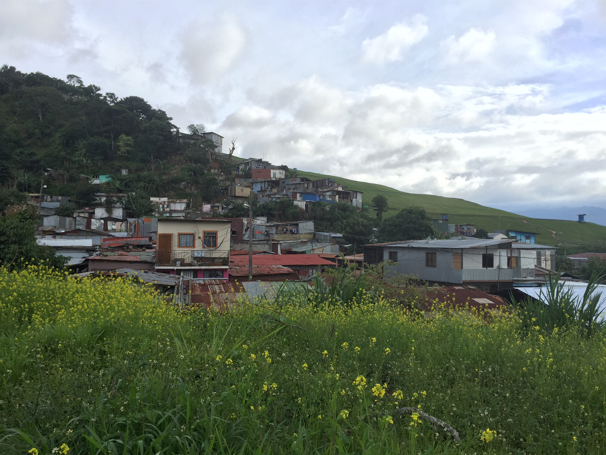 Run down shacks on a hill in Tirrases