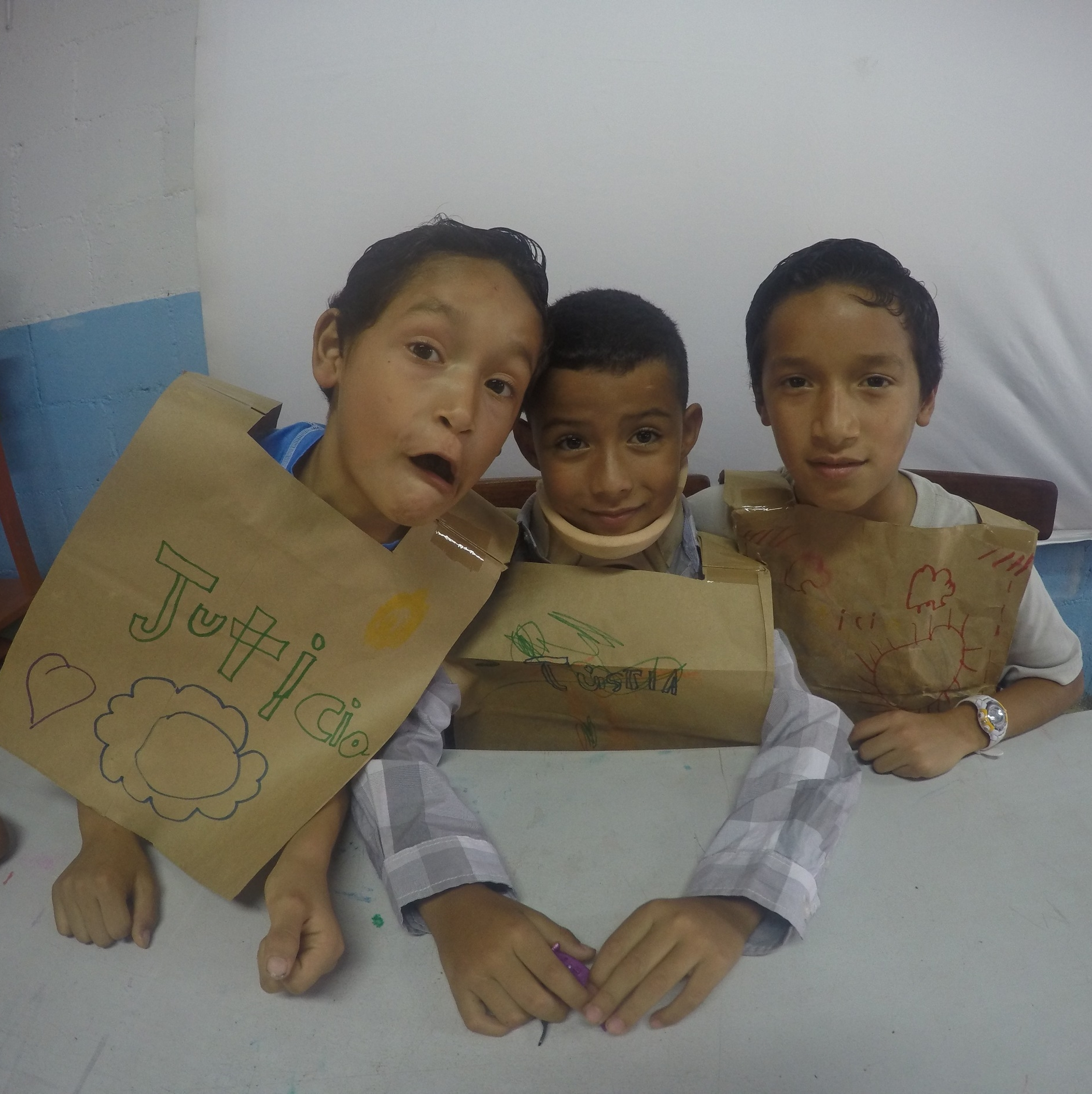 Left to right: Camilo (6), Steven (8), and Javier (10)