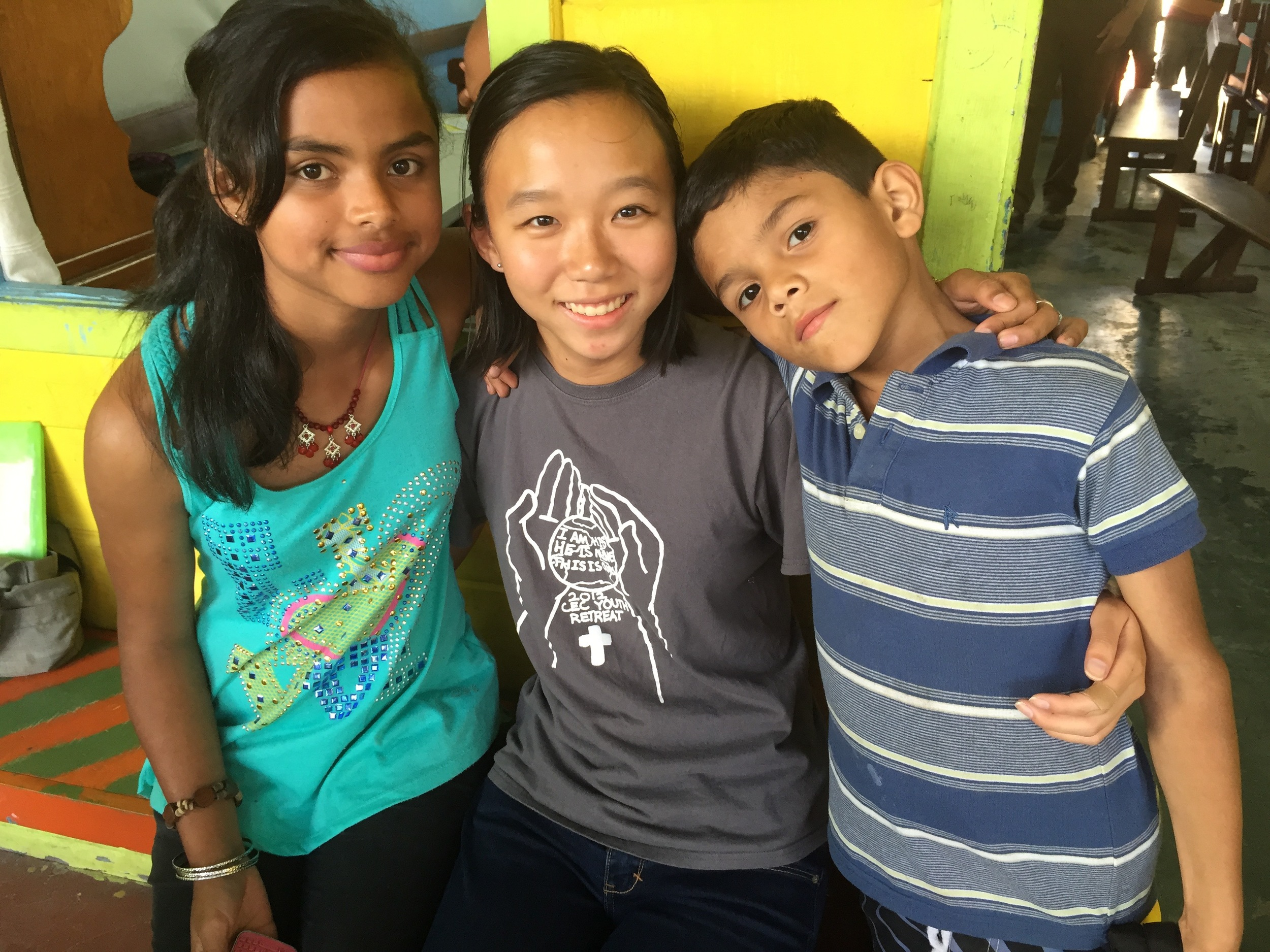 Karina with Wendy and Julio