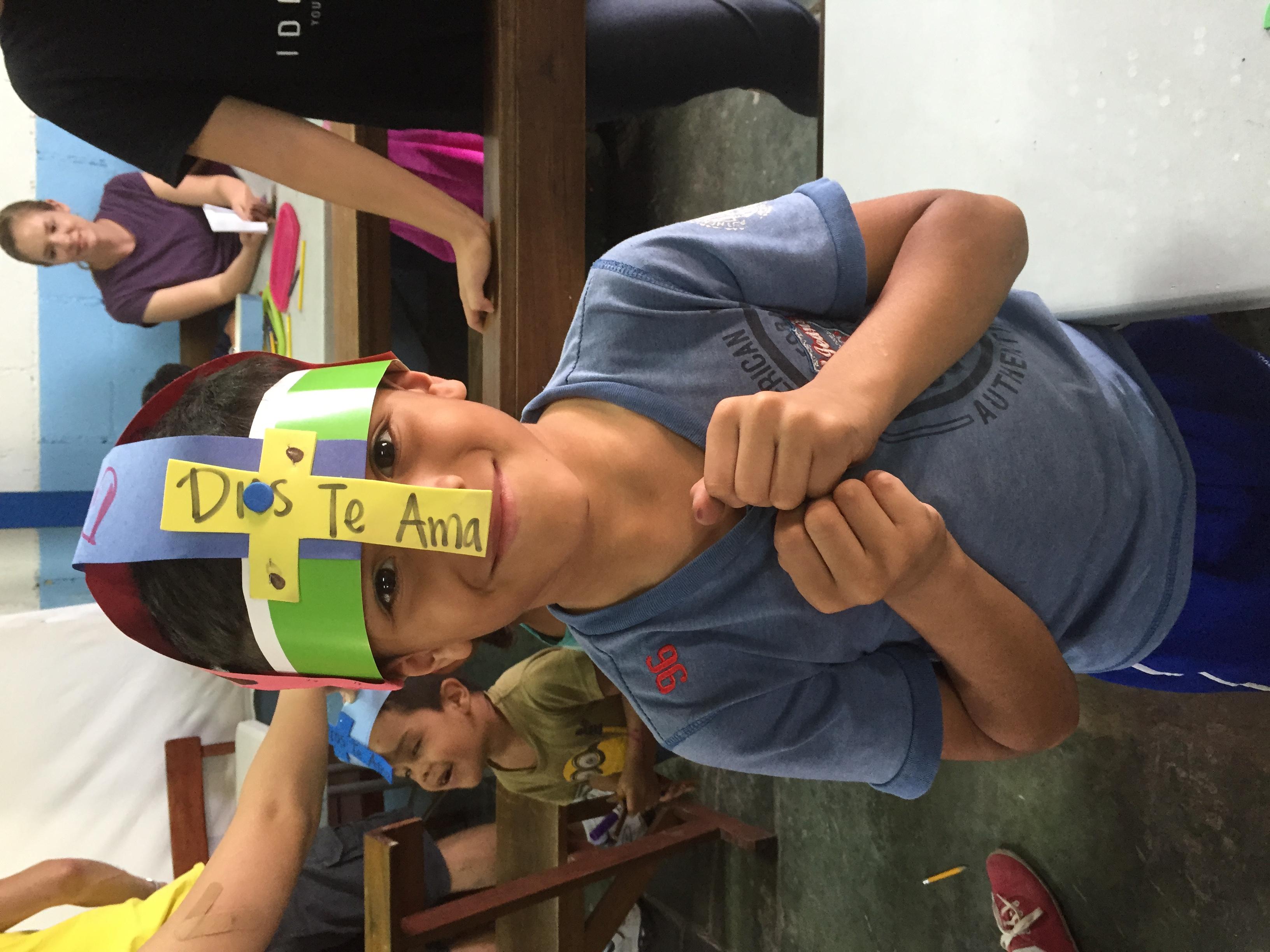 Julio with his Helmet of Salvation