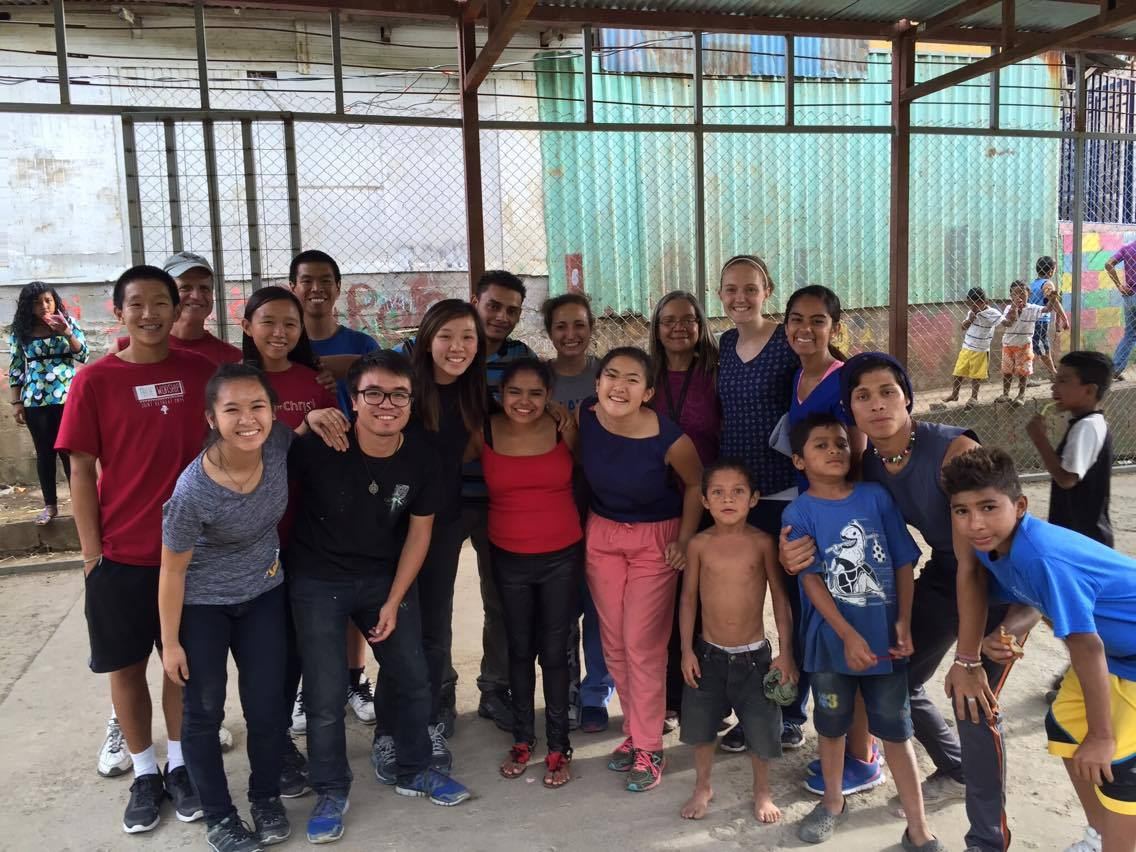 Our STM team along with the interns, locals, and some of the children