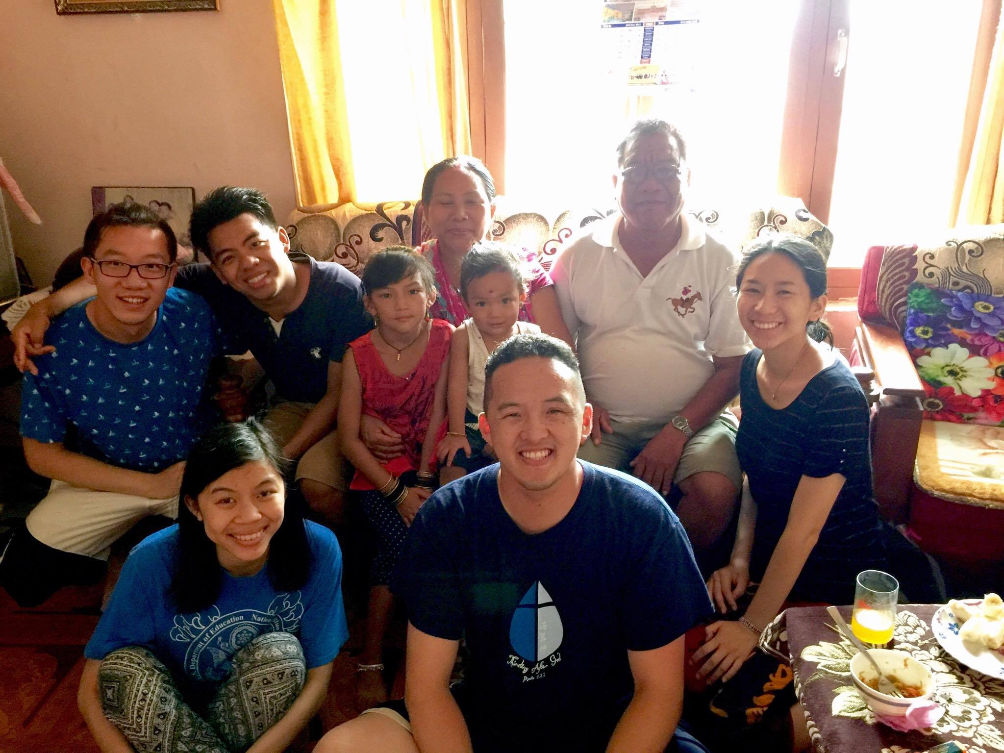 House visitations were always a highlight for us. Here is part of the team hanging out with one of our student's family!