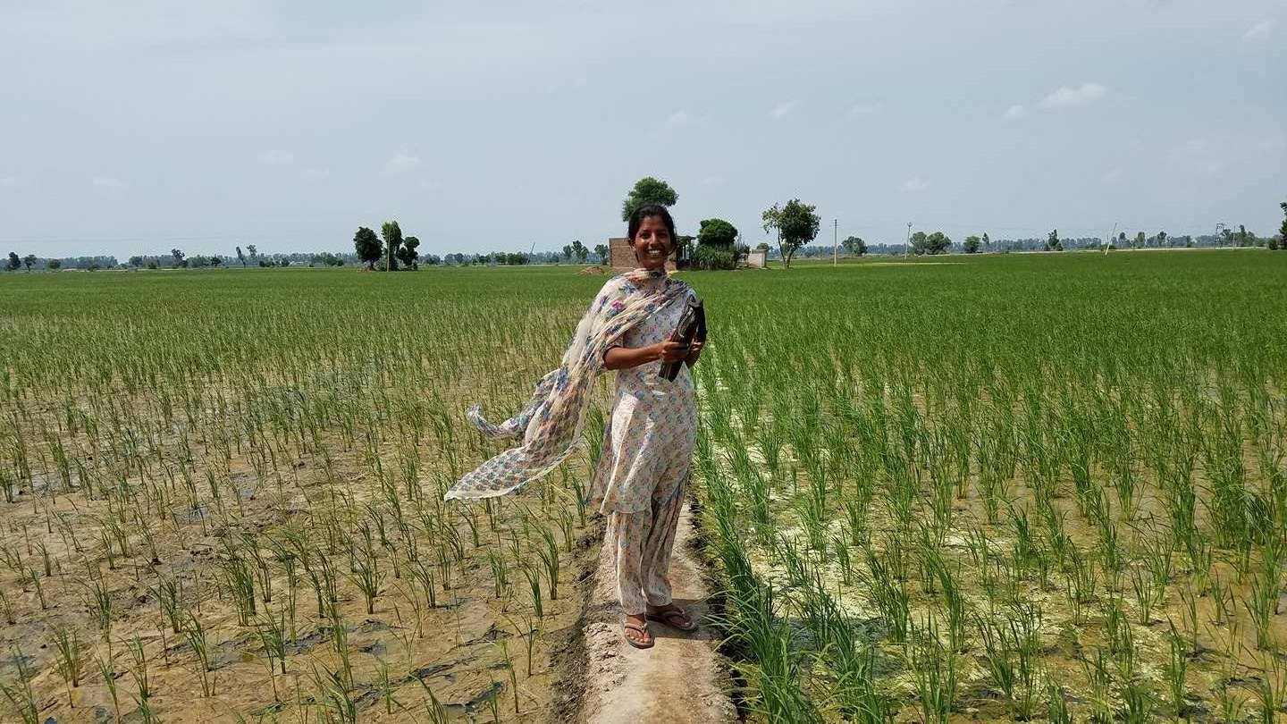 The beautiful sister, Niru, who owns an even more breath-taking home in the middle of a rice field.