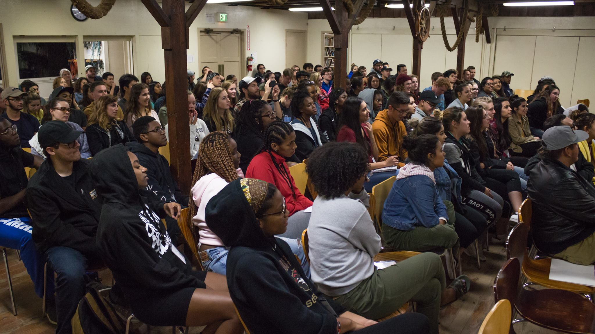 The students listening to our speaker Michael Kim-Eubanks