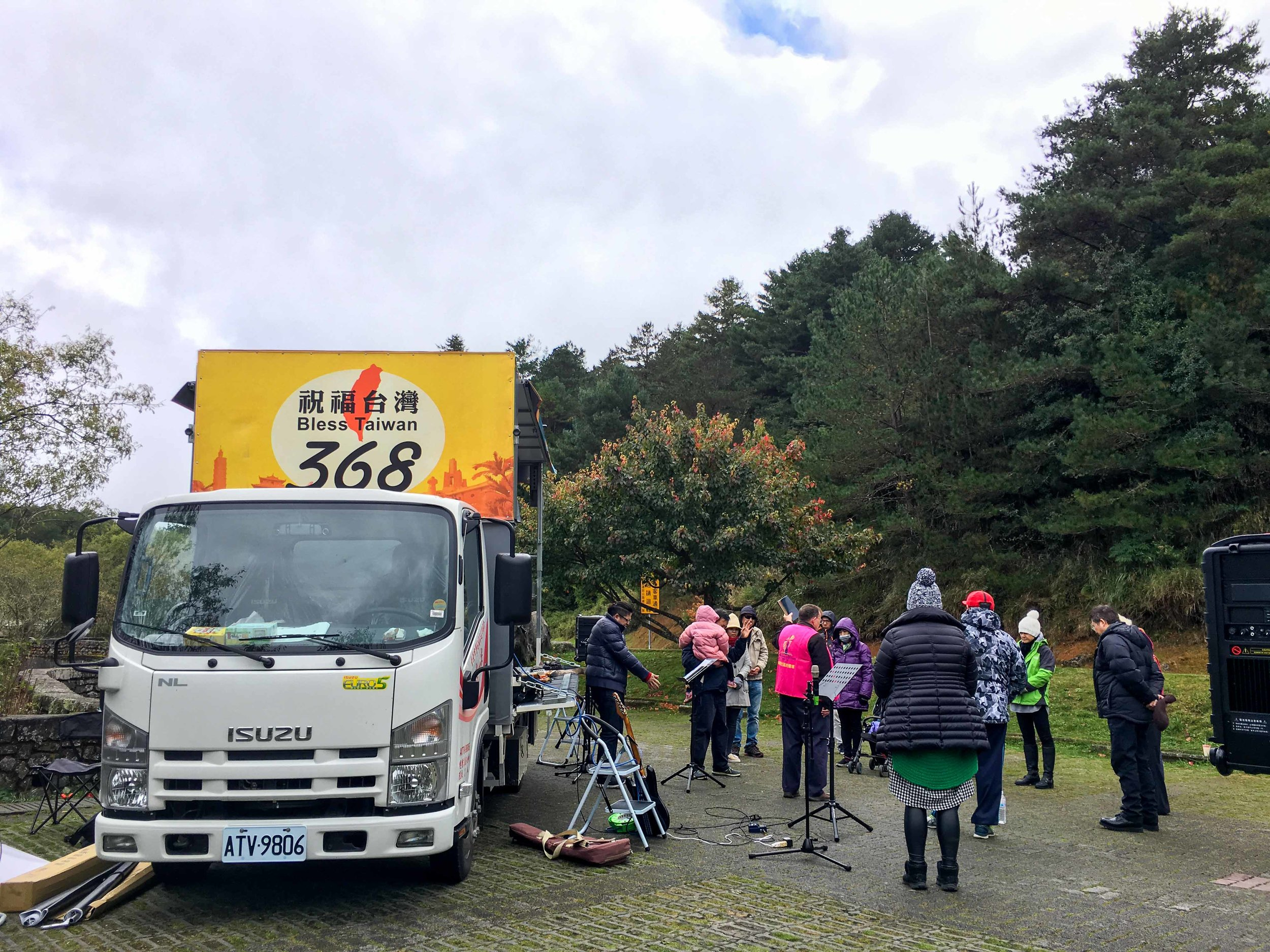Gospel Truck at Mt. Alishan