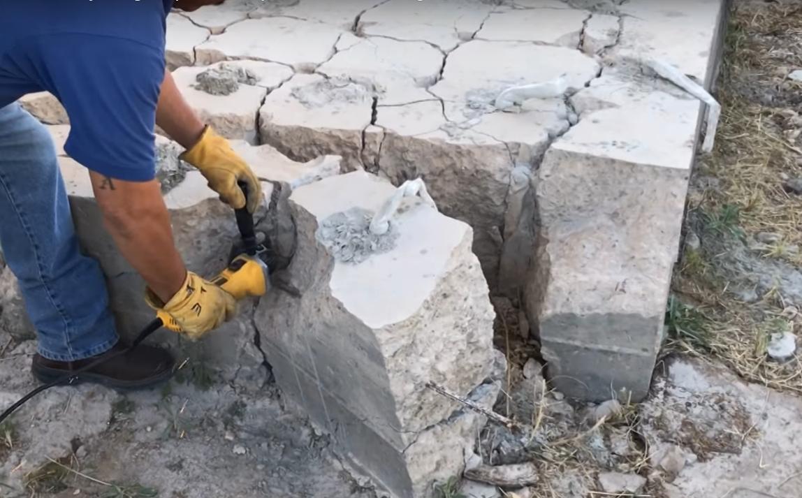 Dexpan concrete cracking cutting rebar.PNG