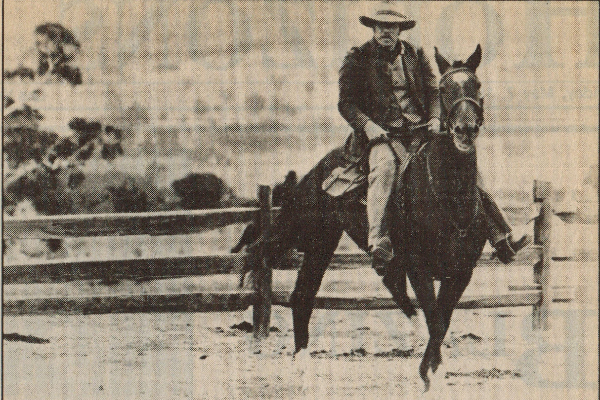 Movie still from 'The Man from Snowy River'.