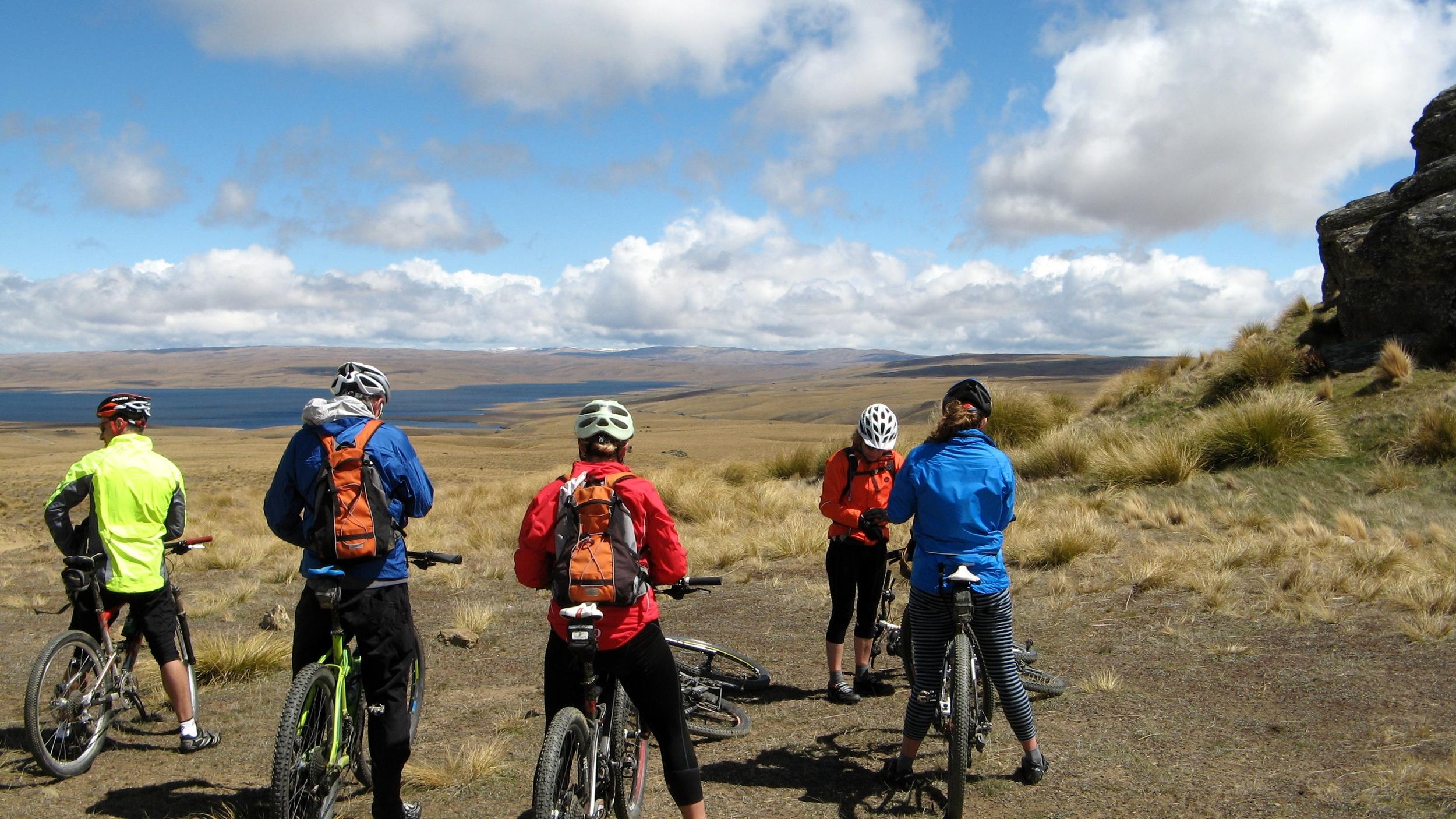 mountain biking on Dunstan Road