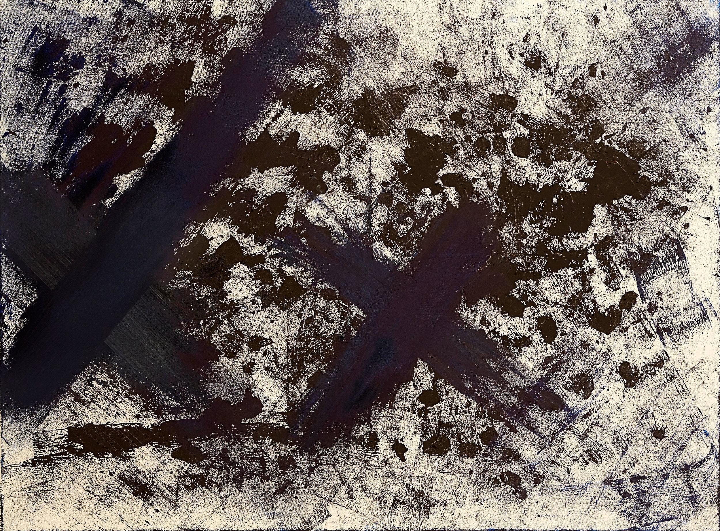 "Explosion , 2015   Oil on canvas   36 x 42"""