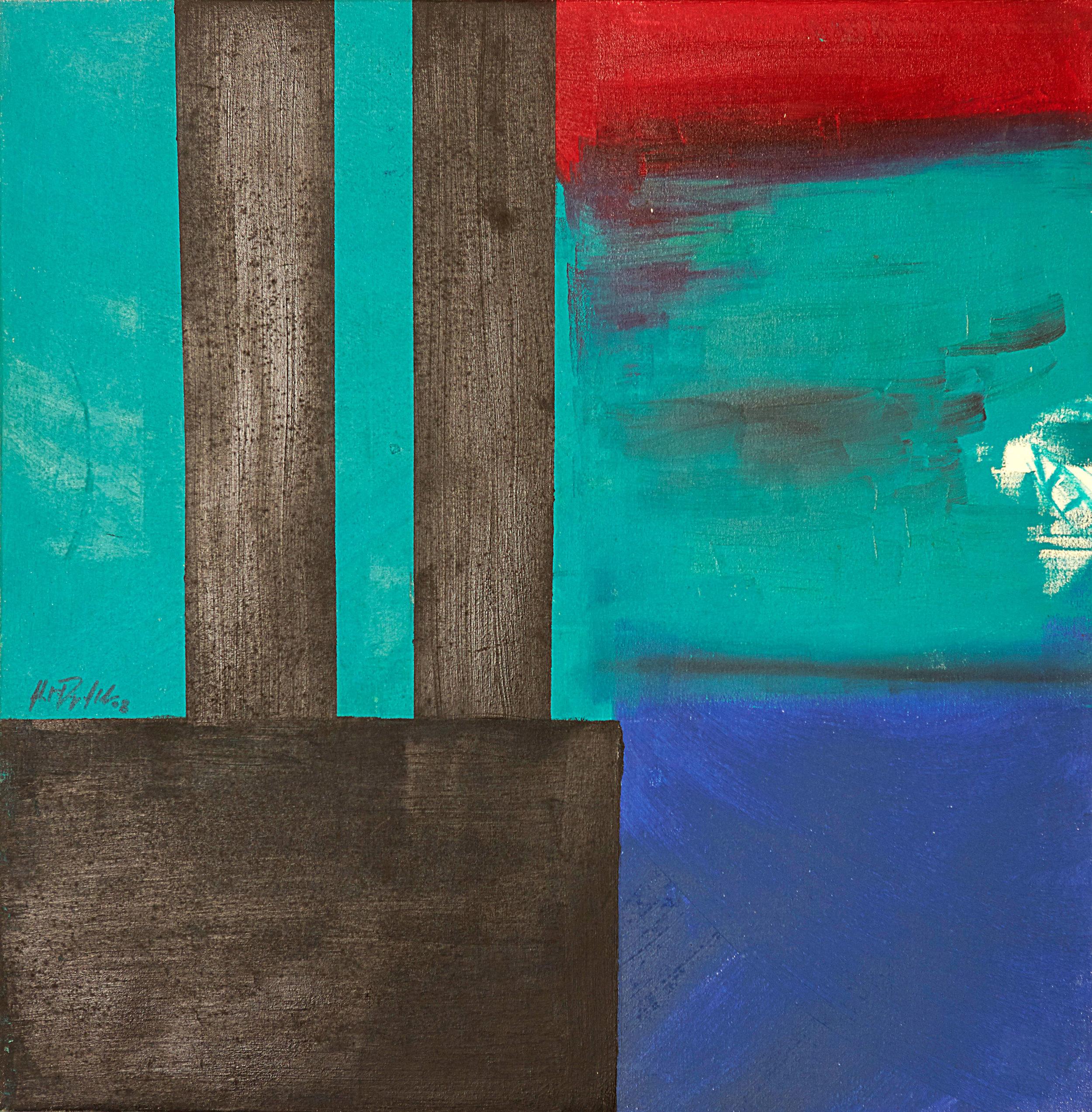 """Fear , 2008   Oil on canvas   20 x 20"""""""