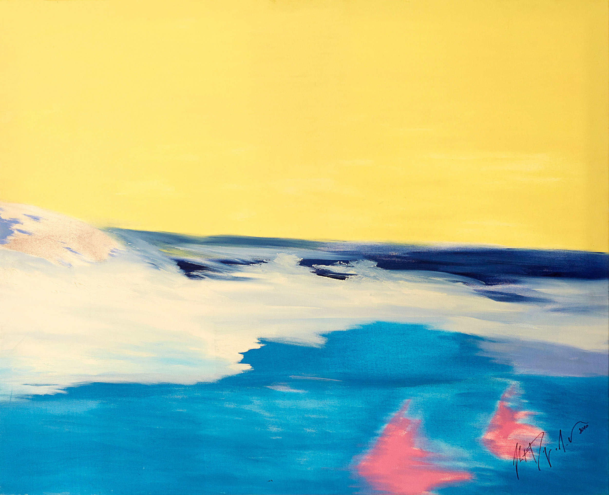 """Over the Sea , 2010   Oil on canvas   46 x 38"""""""