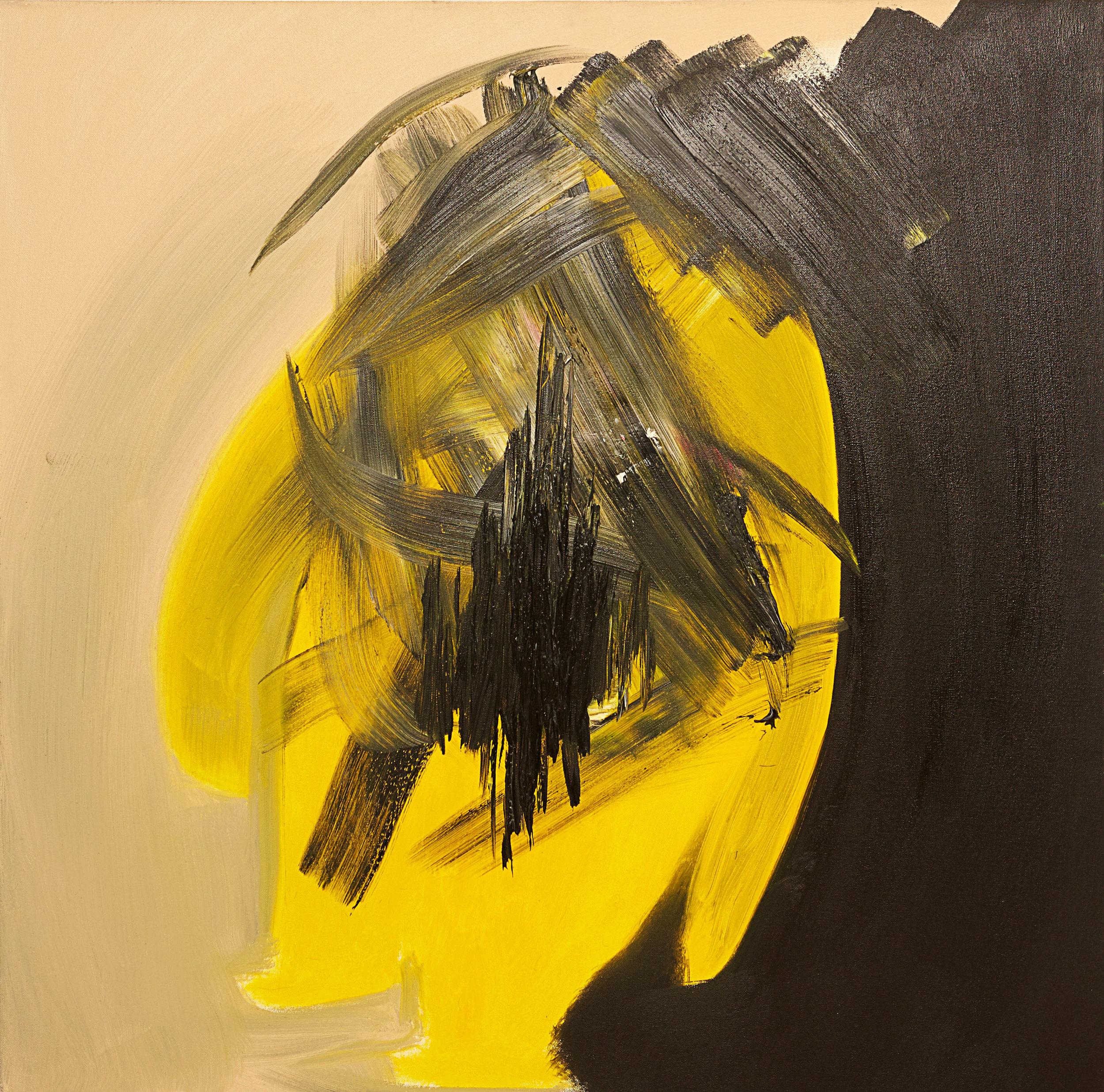 "Scars , 2014   Oil on canvas   36 x 36"""